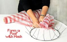 Party Ideas by Mardi Gras Outlet: Candy Cane Stripe Holiday Wreath: EZ Wreath Form Tutorial