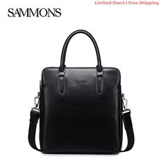 1a94c954bed82 eBay  Sponsored Business Bag Mens Black Genuine Leather Sammons Bag New