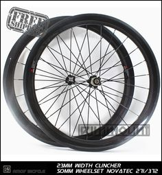 Free shipping 700C 50mm carbon clincher wheelsets 23mm Wide road bike carbon bicycle wheelset