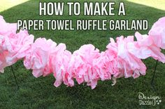 You'll be amazed at how easy it is to turn a roll of paper towels into a gorgeous paper ruffle garland - get the DIY instructions here!!