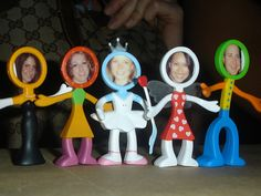 instead of standard name cards for dinner parties, friends as little people! (made by yours truly)