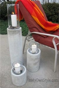 DIY Concrete Fire Column