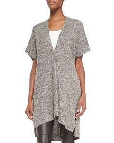 Kimono-Sleeve Organic Linen Wool Cardigan  by Eileen Fisher at Neiman Marcus.