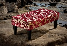 Fabric Ottomans for sale @ Gorgeous Creatures. If you can't find the perfect fabric ottoman you want talk to Gorgeous Creatures. Beautiful NZ made Designer Fabric Ottomans. Life is too short to not have the fabric ottoman that you want to suit you home. Red Ottoman, Cowhide Ottoman, Ottoman Footstool, Fabric Ottoman, Ottomans, Ottoman Furniture, Furniture Design, Furniture Ideas, Red Fabric