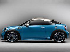 R58 Mini Cooper Coupe Concept Car In Kite Blue Silver Bmw Crossover