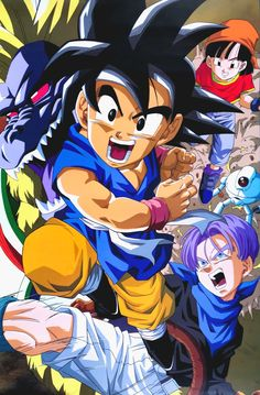 Dragon Ball Gt, Goku Images, Akira, Pikachu, Fan Art, Fictional Characters, Trunks, 3, Artworks
