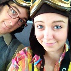 Couple cosplay as young Carl and Ellie from Up when they go to Disney. Love this. Check out their photos!