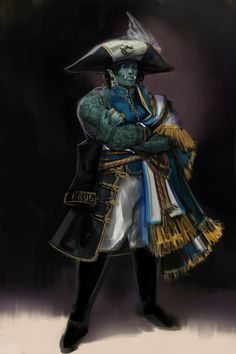 """sketch-a-bsinthe: """" Captain Balena Agrash-Demar, most wanted pirate of the Five Seas, reporting in! Character Creation, Fantasy Character Design, Character Concept, Character Inspiration, Character Art, Character Ideas, Concept Art, D D Characters, Fantasy Characters"""
