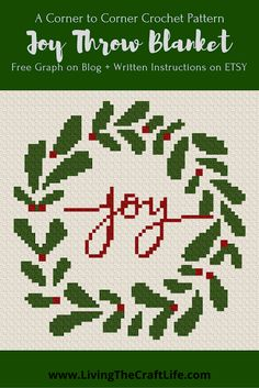 Living the Craft Life Crochet Hook Set, C2c Crochet, Crochet Afghans, Crochet Blankets, Crochet Tutorials, Crochet Ideas, Corner To Corner Crochet Pattern, Holiday Crochet Patterns, Caron Simply Soft