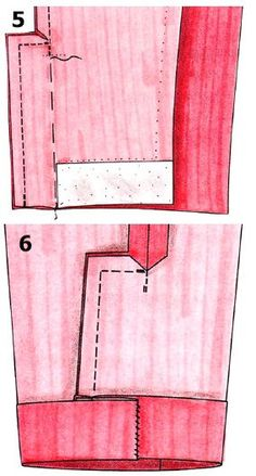 Slot double seam sleeves & many other sleeve vents Sewing Lessons, Sewing Class, Sewing Basics, Sewing Hacks, Sewing Tutorials, Sewing Projects, Sewing Patterns, Tailoring Techniques, Techniques Couture