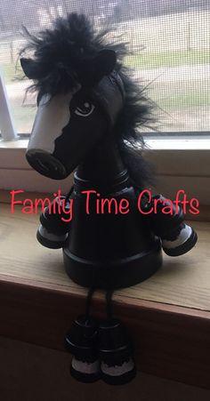 Tiny flower pot terra cotta horse Mini flower pot terra cotta horse by Family Time Crafts