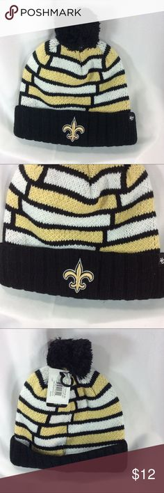 New Orleans Saints winter hat cap new New Orleans Saints NFL winter hat. New with tags. One size fits most. Smoke free home. NFL Accessories Hats