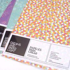 Dreams and Paper  Papeles para crear. Ideales para origami, scrapbooks, encuadernaciones y manualidades. Diferentes motivos. Presentación: 10 u. - 21 x 30 cm.