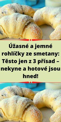 Czech Recipes, Bellisima, Bagel, Amazing Cakes, Doughnut, Ham, Deserts, Food And Drink, Cooking Recipes