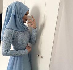 blue hijab prom