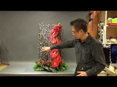 B121 大型賀年花藝創作 Creative Floral Design for Chinese New Year - YouTube