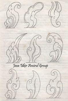 Art Reference Poses, Design Reference, Styrofoam Art, Batik Art, Cloud Shapes, Batik Pattern, Free Hand Drawing, Thai Art, Art Carved