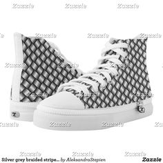 Cute Shoes, On Shoes, Custom Sneakers, Beautiful Shoes, High Tops, High Top Sneakers, Stripes, Pairs, Unisex