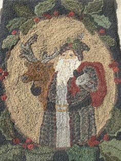 Rhonda Manley's Santa Rug, added by Diane Eaton by bettie