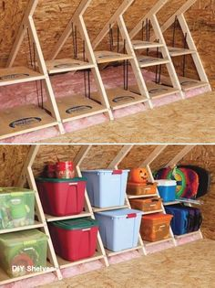 DIY Tiny House - ideas for storage and organization on a budget . - DIY Tiny House – ideas for storage and organization on a budget - Storage Shed Organization, Loft Storage, Tiny House Storage, Storage Hacks, Bedroom Storage, Storage Ideas, Storage Solutions, Organizing Ideas, Bedroom Organization
