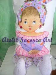 Resultado de imagem para almofadas de bonecas pintadas