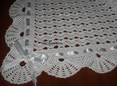 As Receitas de Crochê: Manta de croche ponto leque