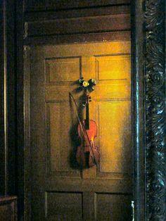Trompe L'oeil of a violin, Chatsworth House
