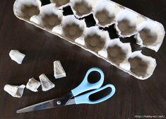 Gooi je eierdozen niet weg, maak er in het vervolg decoratierozen van!