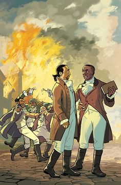 """Aaron Burr, Sir"" Art by Rebecca Mock."