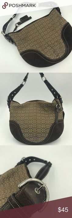 fe68869feaf0 COACH Authentic Brown Signature Hobo Bag 1460 Great bag in very good  condition. Medium size