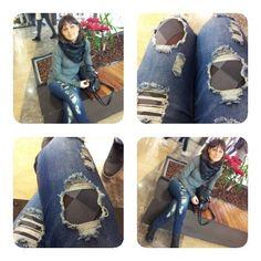 Jeans strappato...I love you!!!