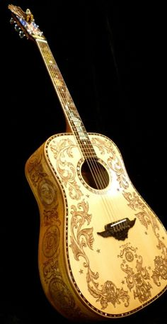 """Hand Made Blueberry Custom """"Patriot"""" Dreadnought Acoustic Guitar"""