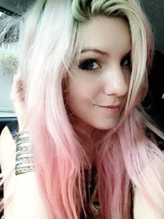 Ombre pastel pink hair