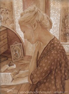 The Letter - 8.5x11 signed print, by James Browne