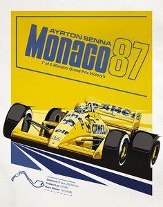 AS Poster - Monaco, 1987.