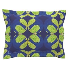 Sebright Pillow Sham with Flanged Detail featuring Spop by joancaronil | Roostery Home Decor