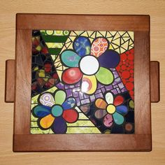Mosaic dog by Solange Piffer Mosaic Art, Mosaic Glass, Stained Glass Projects, Zentangle, Cute Pictures, Projects To Try, Dogs, Flowers, Painting