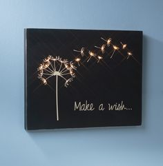 Make a Wish Wooden Canvas created by Sarah Owens for #CraftWarehouse