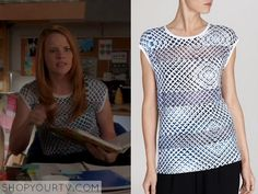 Switched at Birth: Season 4 Episode 4 Daphne's Blue Grid Top