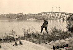 Most Fordoński im. Rudolfa Modrzejewskiego (Weichselbrücke), Bydgoszcz - 1939 rok, stare zdjęcia
