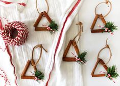 how to make rustic cinnamon stick ornaments