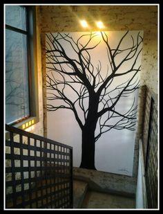 Winter tree -  Art by Dinie Potgieter