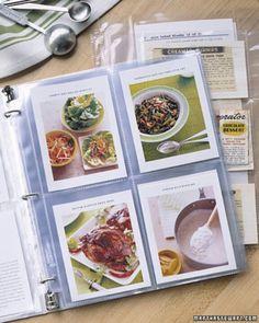 Organize recipes/recipe cards