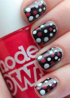 Fundamentally Flawless: red, white and black dotticure
