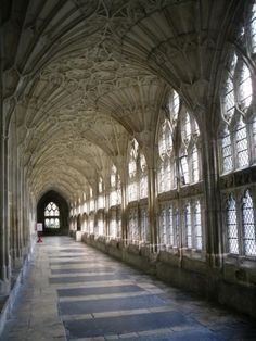 Cloisters at Gloucester Cathedral, England by belinda