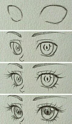 Drawing ideas step by step sketches anime eyes 31 Best ideas – Drawing Techniques Step By Step Sketches, Step By Step Drawing, Drawing Sketches, Drawing Ideas, Eye Sketch, Drawing Art, Drawing Faces, Cute Eyes Drawing, Easy Eye Drawing