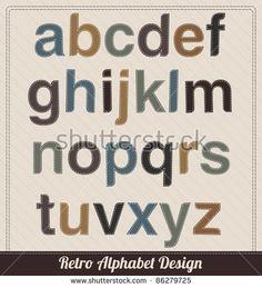 Retro Alphabet From Fabric - Lowercase