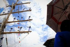 The cadets climbing the masts were a particularly huge attraction. Among the spectators were family members as they felt the spirit of Jalesveva Jayamahe, 'Glorious on the Seas', the motto of the Indonesian Navy.