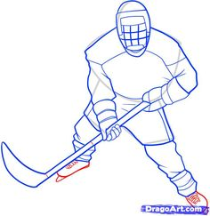 step 8 how to draw a hockey player