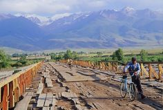 This photo from Naryn, East is titled 'Old Bridge'. Silk Road, Central Asia, Ranges, Switzerland, Turning, Join, Chinese, Canada, River